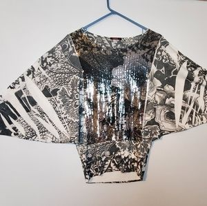 ***3 for $15 Unique Sequin Shirt in Size Large
